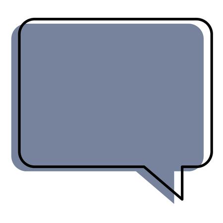 A speech bubble isolated icon vector illustration design Ilustração