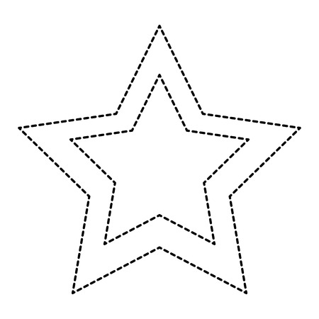 A favorite star isolated icon vector illustration design Illustration
