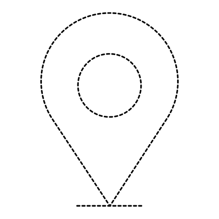 A pin pointer location icon vector illustration design