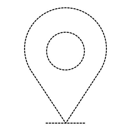A pin pointer location icon vector illustration design Banco de Imagens - 96391152