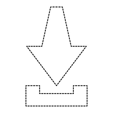 Flèche téléchargement isolé icône du design illustration vectorielle Banque d'images - 96391553
