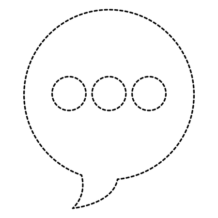 A speech bubble isolated icon vector illustration design  イラスト・ベクター素材