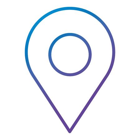A pin pointer location icon vector illustration design