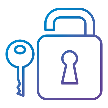 A safe secure padlock with key vector illustration design Ilustração