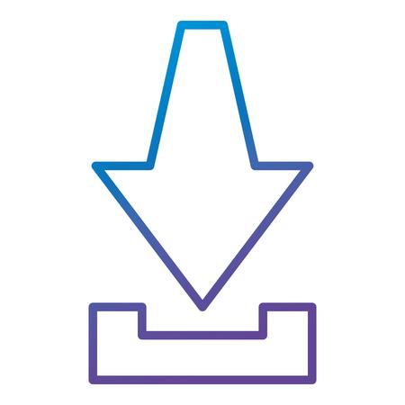 矢印ダウンロード分離アイコンベクトルイラストデザイン
