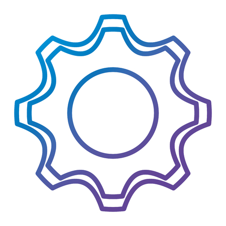 A gear machine isolated icon vector illustration design