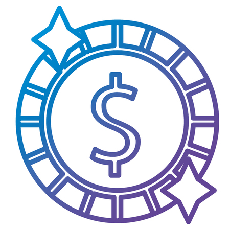 A coin money isolated icon vector illustration design Illustration