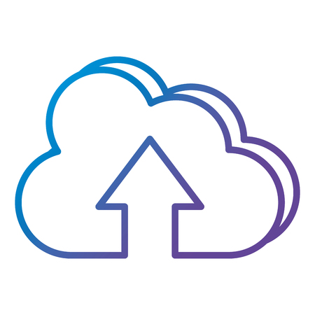 cloud computing with arrow up vector illustration design