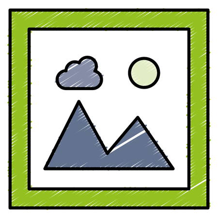 landscape snapshot isolated icon vector illustration design