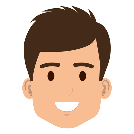 young man head avatar character vector illustration design Stock Photo