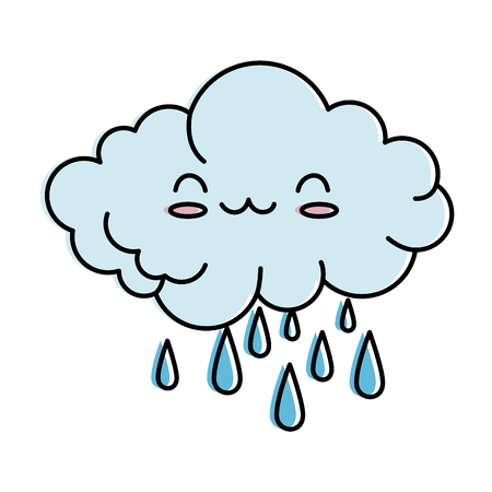 Cute cloud rainy character illustration design Фото со стока - 96361432
