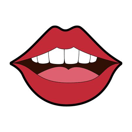 Pop art lips icon vector illustration design.