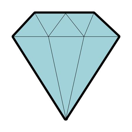 ダイヤモンドエレガントな孤立したアイコンベクトルイラストデザイン。  イラスト・ベクター素材