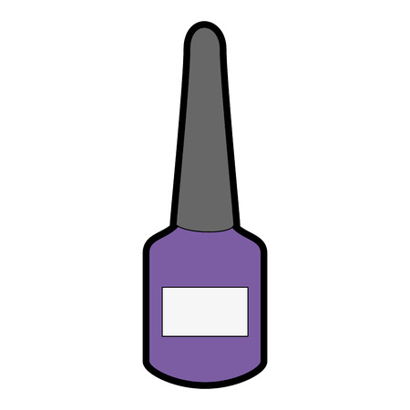 Nail polish bottle isolated icon vector illustration design.  イラスト・ベクター素材