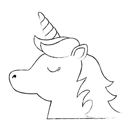 Cute fantasy unicorn character