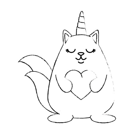 Cute fantasy hamster with horn