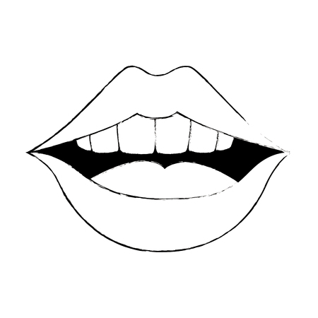 Pop art mouth icon