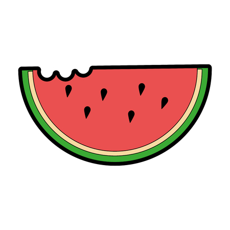 Watermelon slice icon Stok Fotoğraf - 96437134