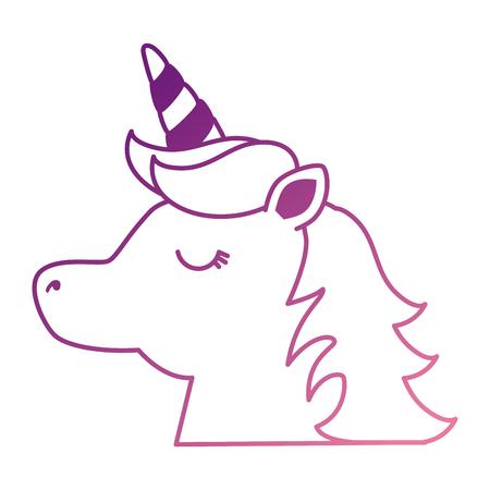 cute fantasy unicorn character vector illustration design Archivio Fotografico - 96368464