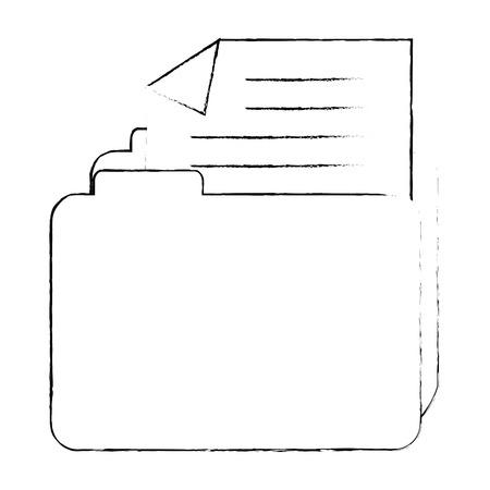 file folder isolated icon vector illustration design Stock Vector - 96372765