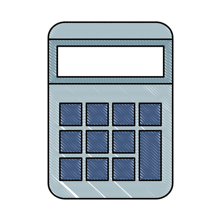 Calculator Math With Hard Disk Vector Illustration Design Royalty ...