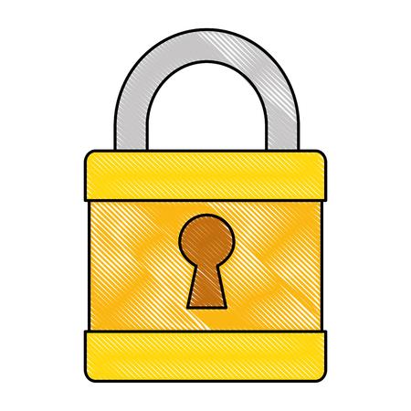 Safe secure padlock icon vector illustration design. Иллюстрация