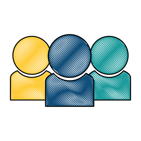 Users silhouette contacts icon vector illustration design.
