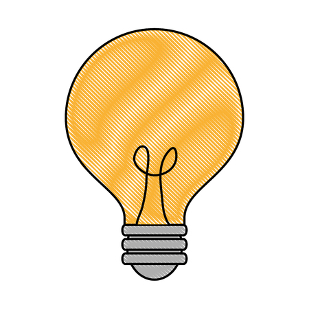 bulb light idea icon vector illustration design