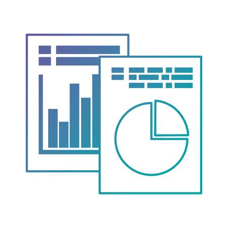 統計インフォグラフィックベクタイラストデザインを含む文書  イラスト・ベクター素材