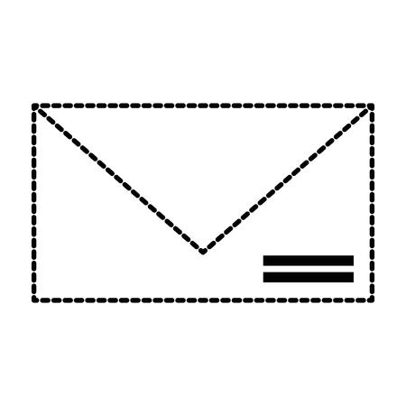 エンベロープメール分離アイコンベクトルイラストデザイン。