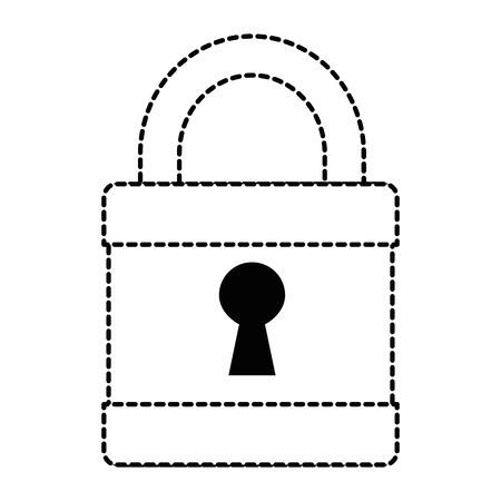 Safe secure padlock icon vector illustration design. Illustration