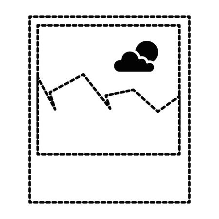 ピクチャーファイル分離アイコンベクトルイラストデザイン。  イラスト・ベクター素材