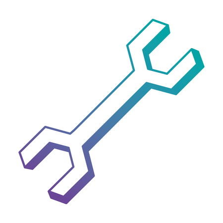 Wrench key isolated icon vector illustration design.