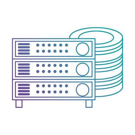 Data center disk with server vector illustration design. Ilustrace