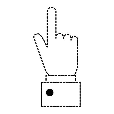 Hand human touching icon vector illustration design.