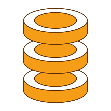 Data center server icon vector illustration design. Illustration