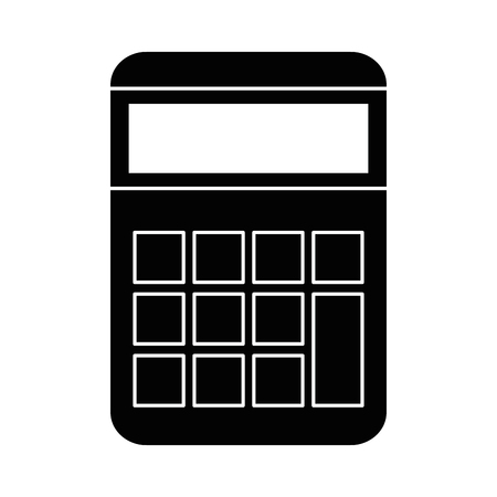 Calculator math device icon vector illustration design.
