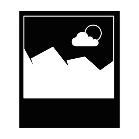 ピクチャーファイル分離アイコンベクトルイラストデザイン  イラスト・ベクター素材