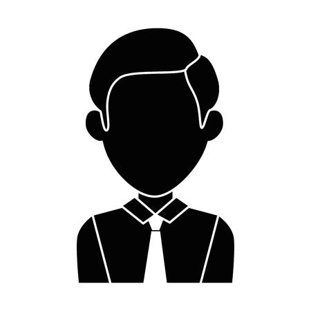 Homme d & # 39 ; affaires avatar caractère icône vecteur illustration design Banque d'images - 96368558