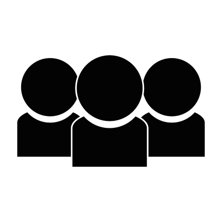 users silhouette contacts icon vector illustration design