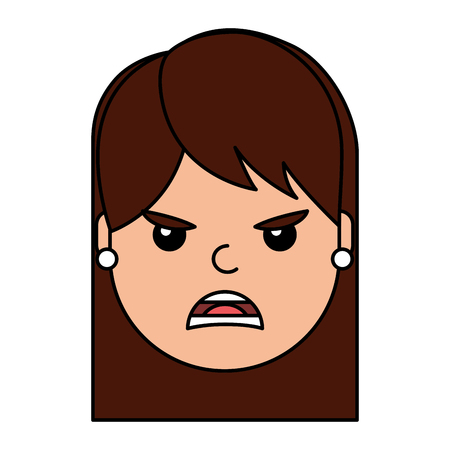 angry young woman avatar character vector illustration design Stock Vector - 96411190