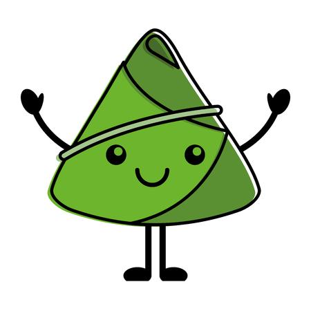 happy rice dumpling cartoon vector illustration Illustration