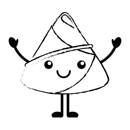 Happy rice dumpling vector illustration sketch style design Illustration