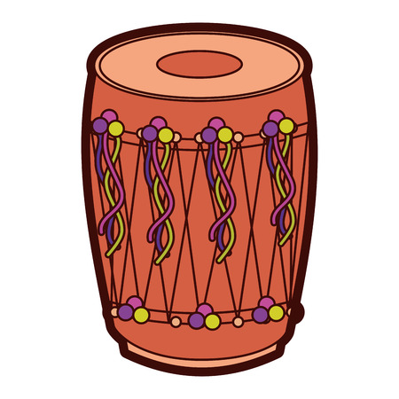 Musical instrument punjabi drum indian traditional vector illustration Illustration
