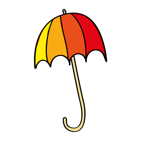 Colored open umbrella protection climate season vector illustration 向量圖像