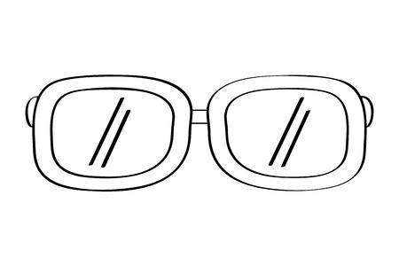 sunglasses fashion summer accessory trendy vector illustration outline design