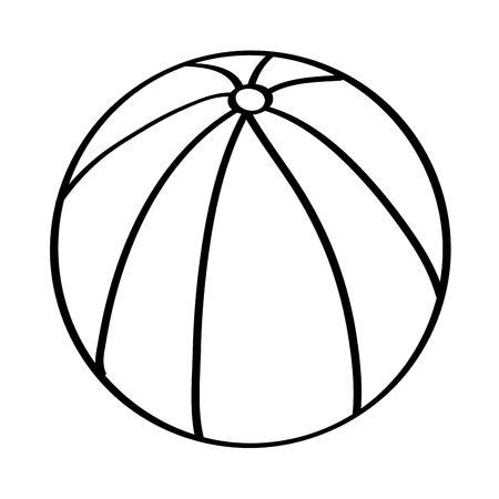 Wasserball Gummi Spielzeug spielen Bild Vektor Illustration Skizze Design Standard-Bild - 96527565