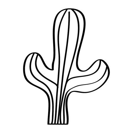 cactus desert plant decorative natural vector illustration outline design  イラスト・ベクター素材