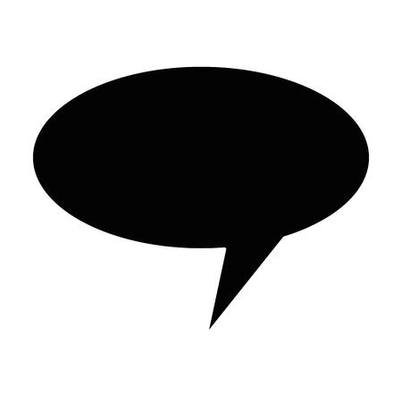 A speech bubble isolated icon vector illustration design Illustration