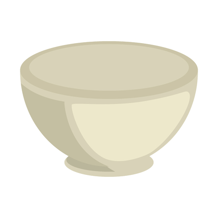 A bowl icon over white background vector illustration